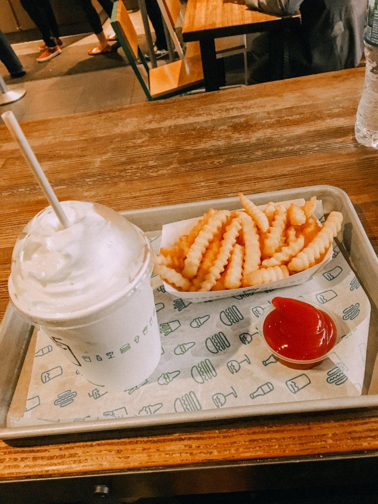 Fries and a milkshake