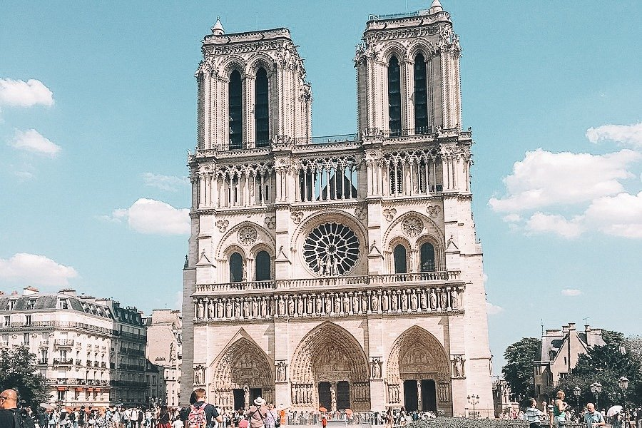 The Notre Dame Cathedral from the front