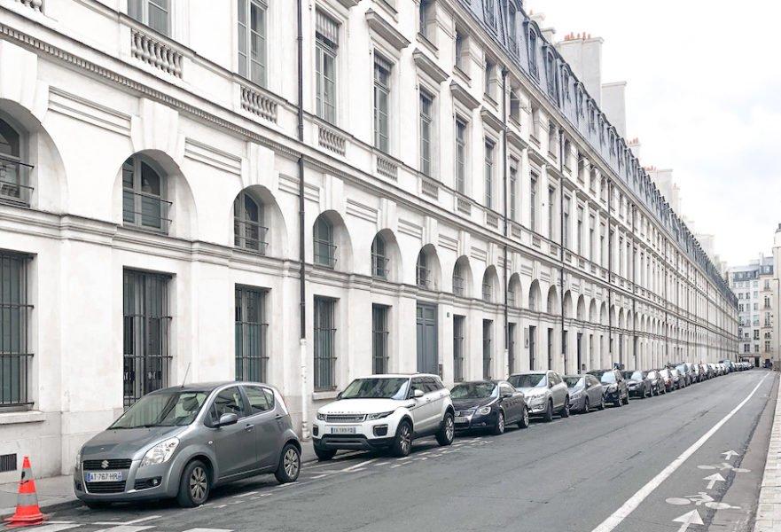 White street in Paris