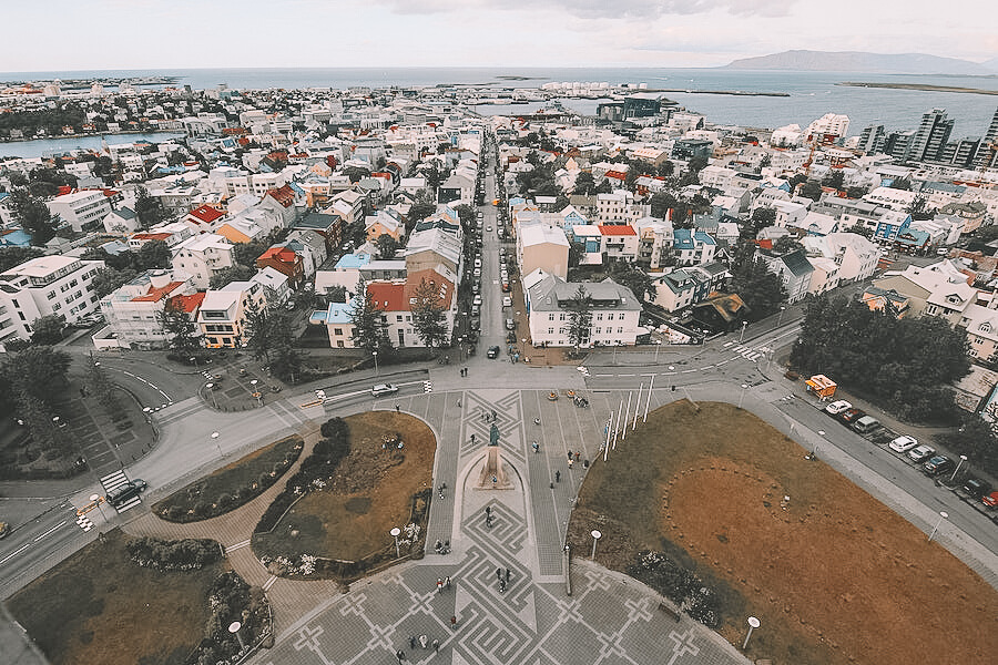 Ariel view of Reykjavik