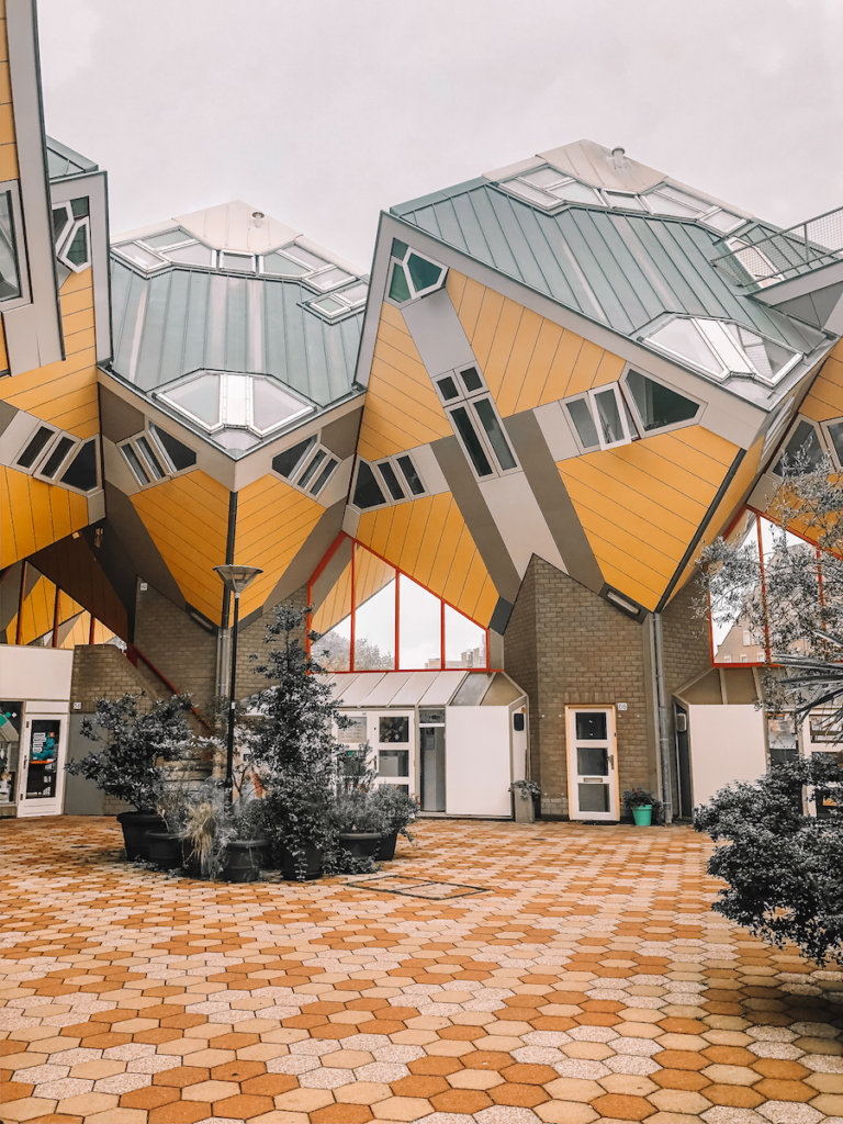 Yellow cube houses - one of the best places to visit in the Netherlands