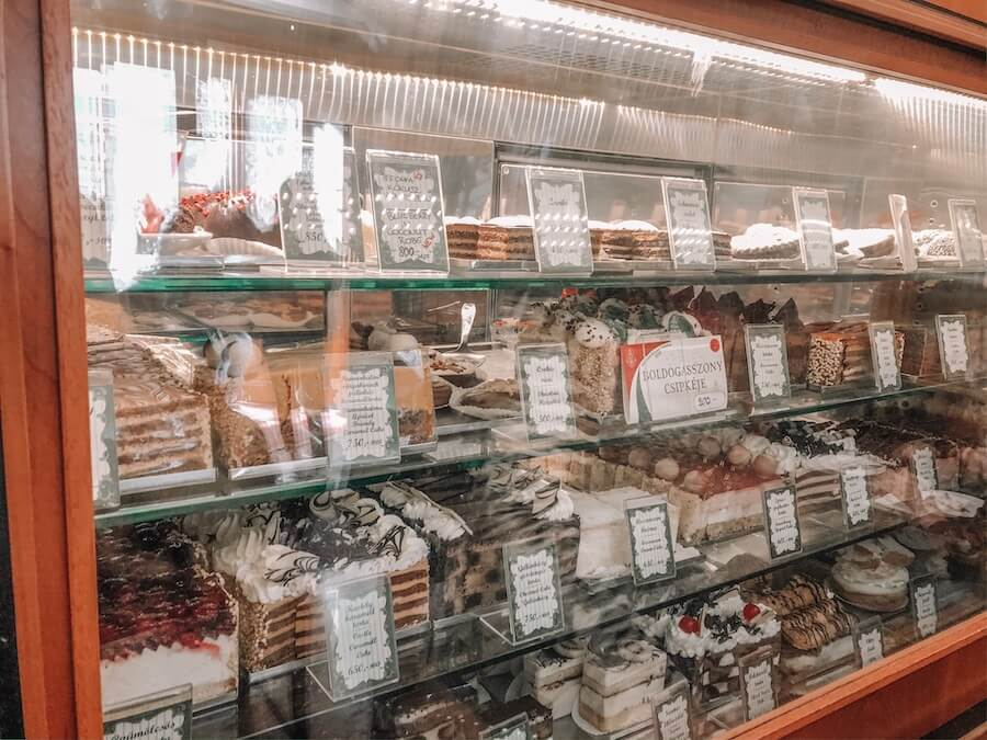 Various sweet treats at Ruszwurm confectionary