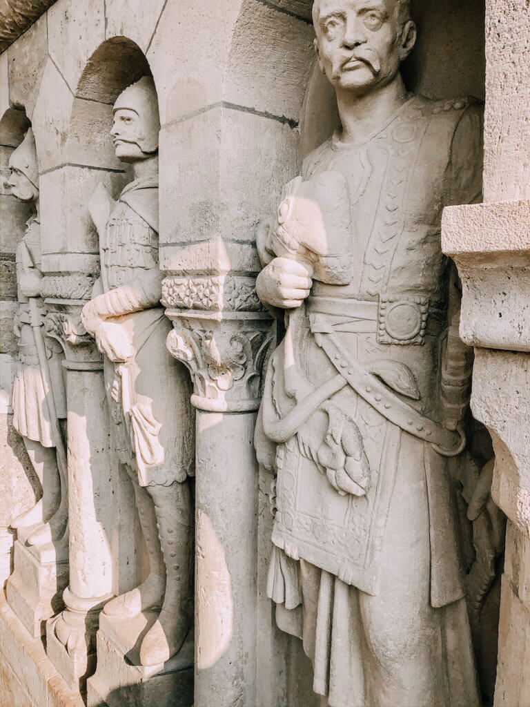 Statues at Fishermans Bastion