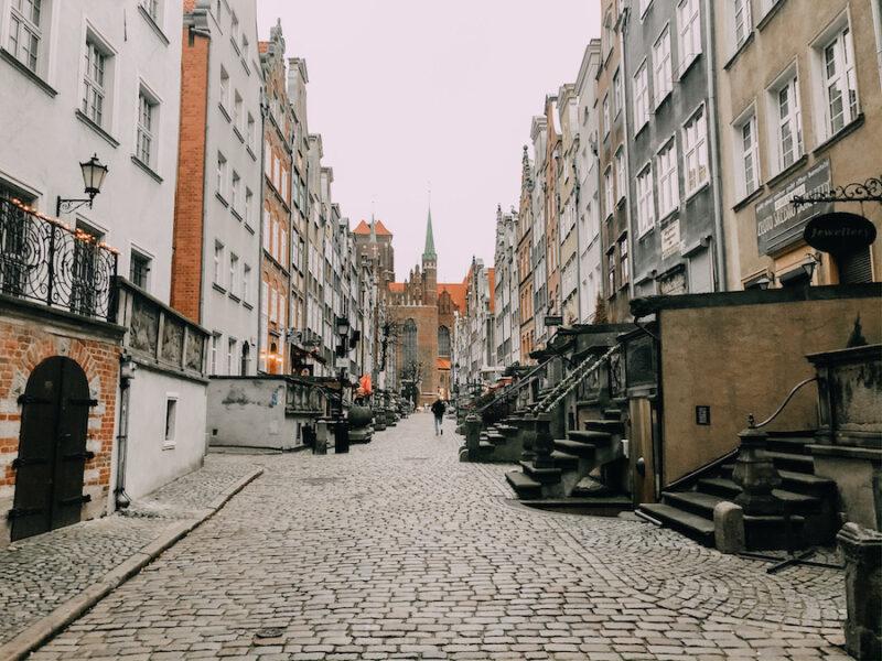 Cobblestone street in Gdansk