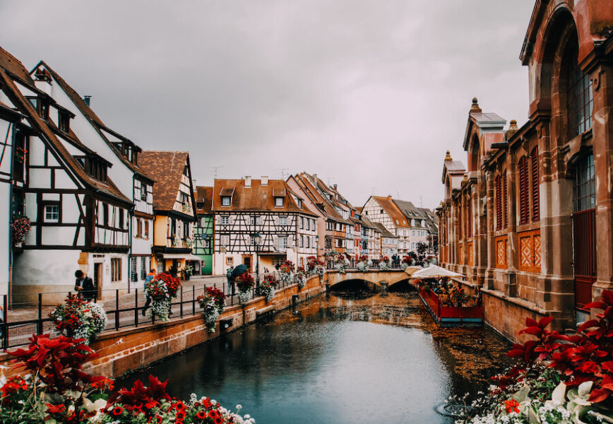 Stunning river and houses in Colmar France