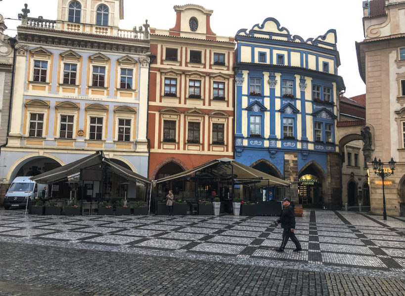 Colorful buildings in Pragues Old Town