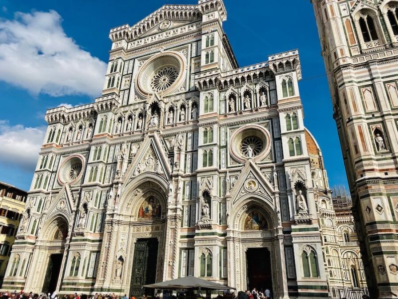 Ornately designed exterior of the Duomo in Florence