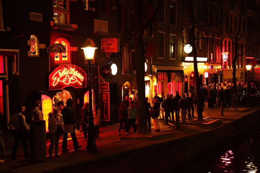 Night time at the Red Light District