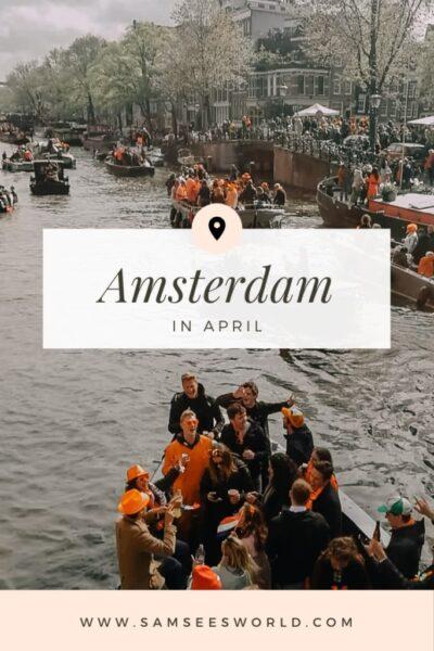 Amsterdam in April pin