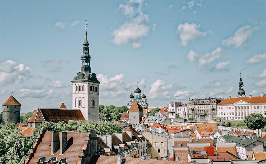 Tops of buildings in Tallin, Estonia