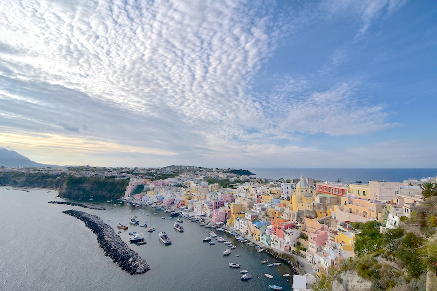Long view of the island of Procida
