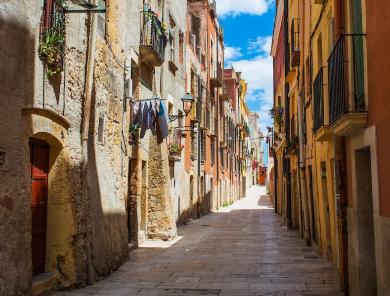 Side alley in Mallorca, Spain