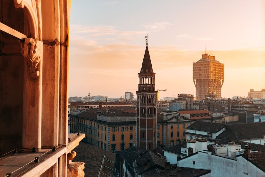 View over the city of Milan