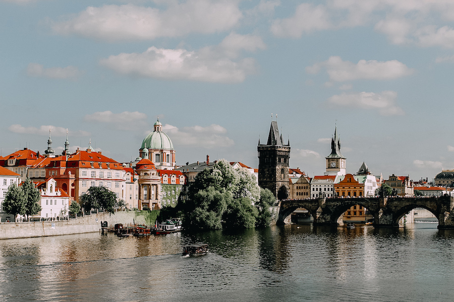 View from the river in Prague