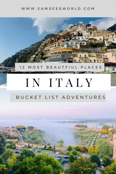 Prettiest cities in Italy pin