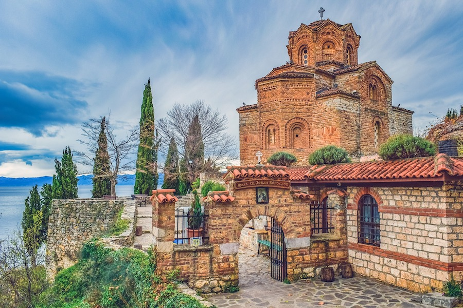 Monastery on Lake Ohrid