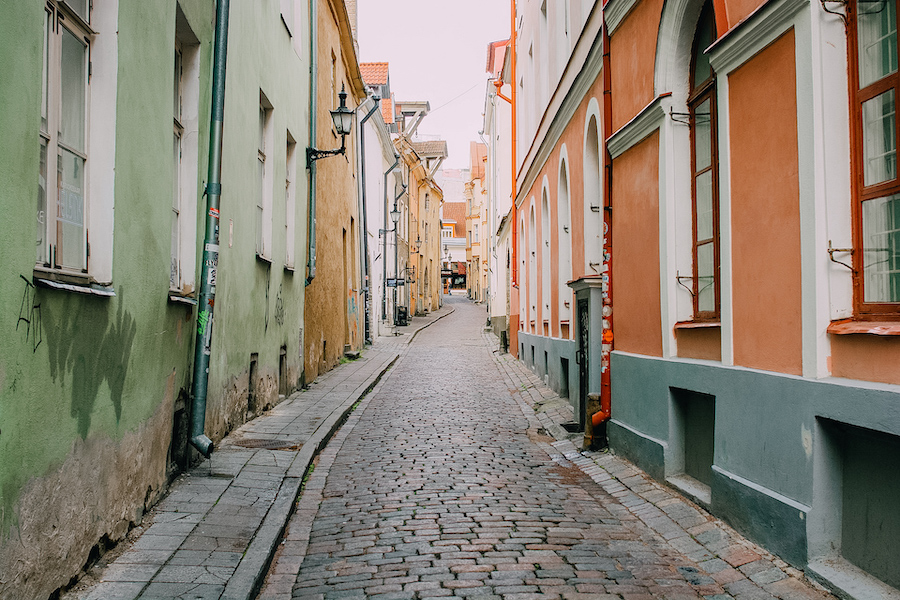 Colourful streets of Tallin