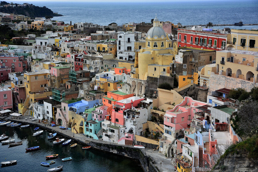 Colourful houses of Procida