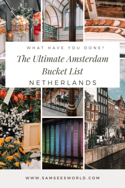 Pinterest image Amsterdam bucket list