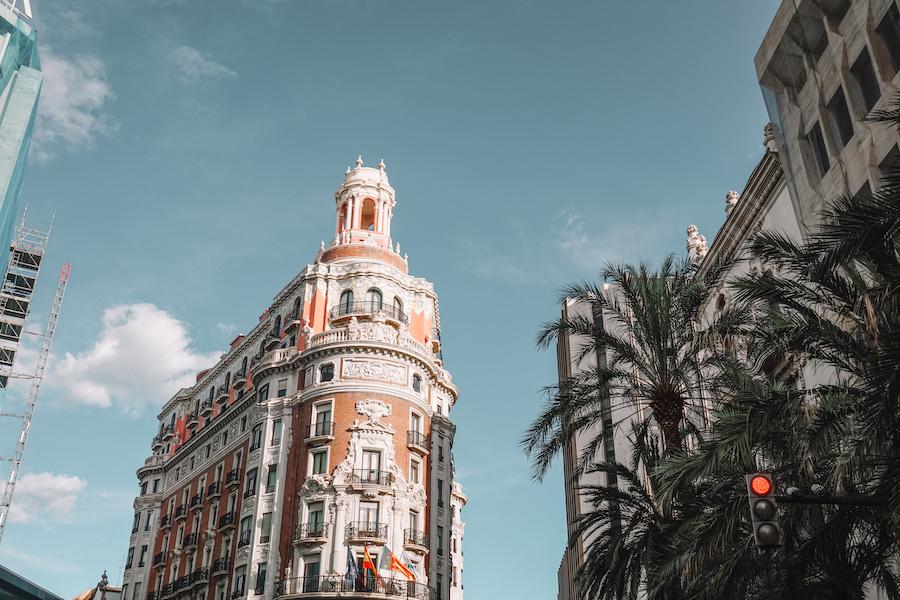 Pink building in Valencia