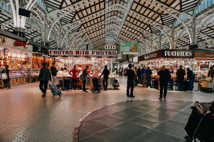 Central market in Valencia