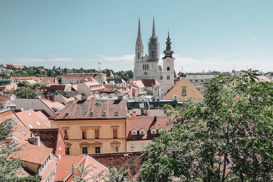 Buildings in Zagreb, Croatia
