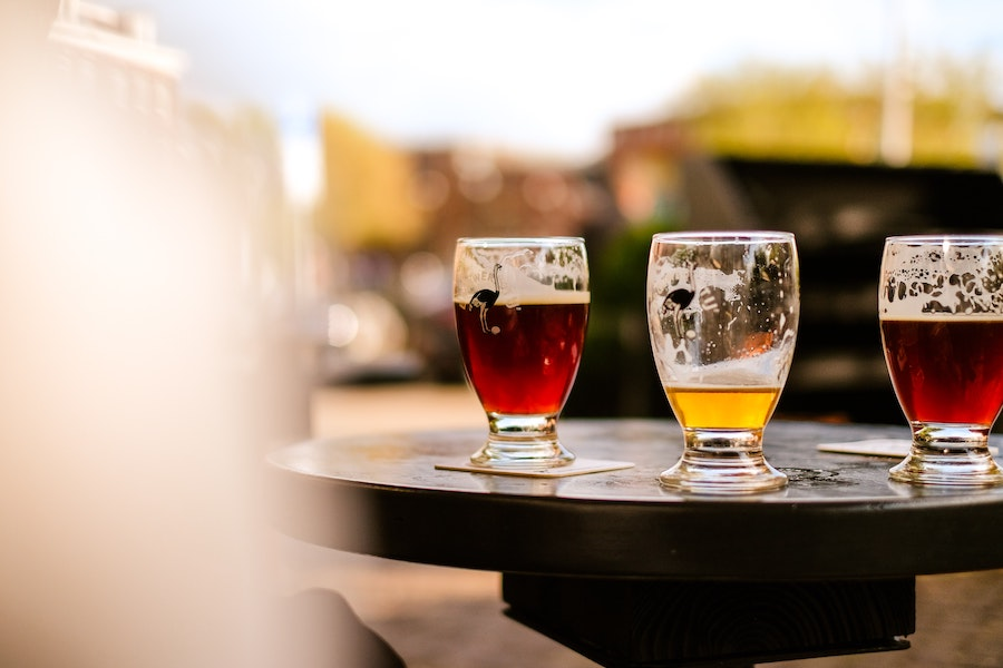 3 beers on a table