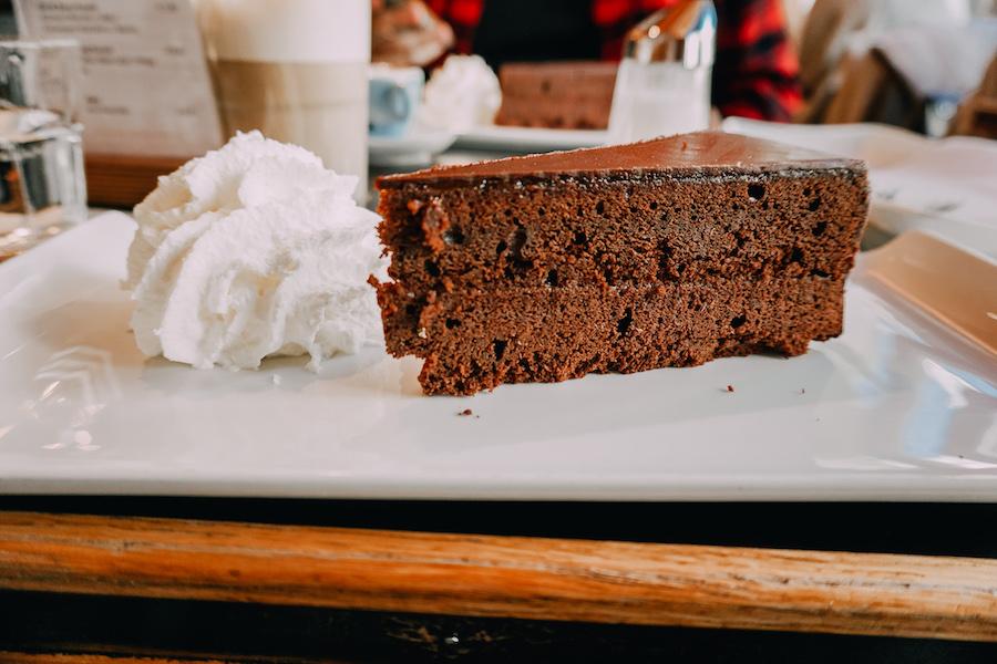 Famous chocolate cake called Sachertorte