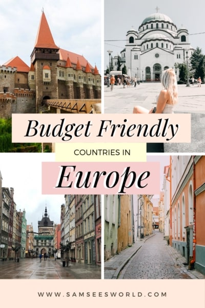Cheapest countries in Europe pin