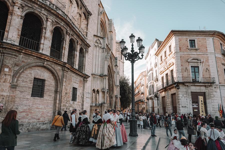 Traditional Brlea dancers in Valencia