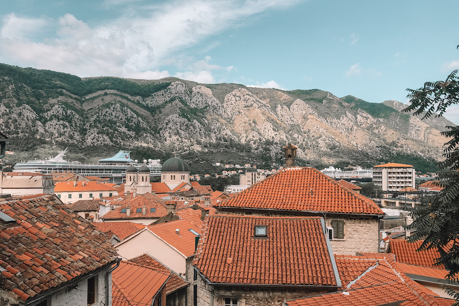 Orange thatched rooftops of Dubrovnik