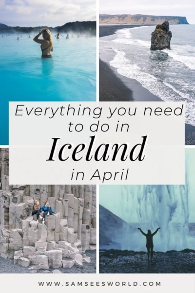 Iceland in April Pin