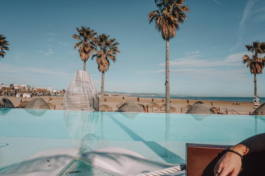 Beach bar in Valencia