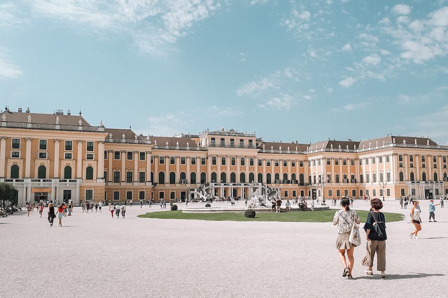 Outside of  Schönbrunn Palace
