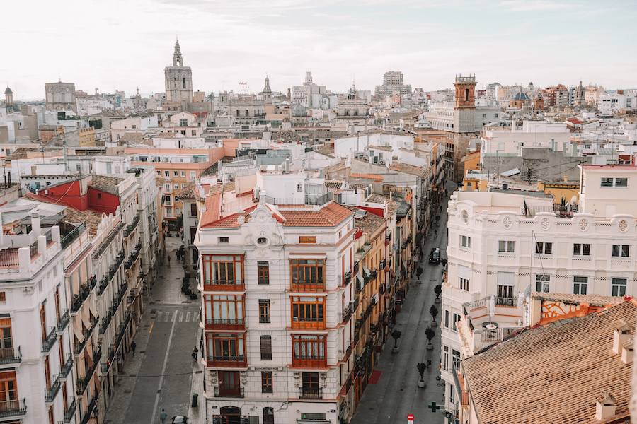 View of Valencia from above