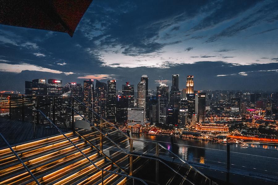 Singapore skyline from Cè La Vi skybar