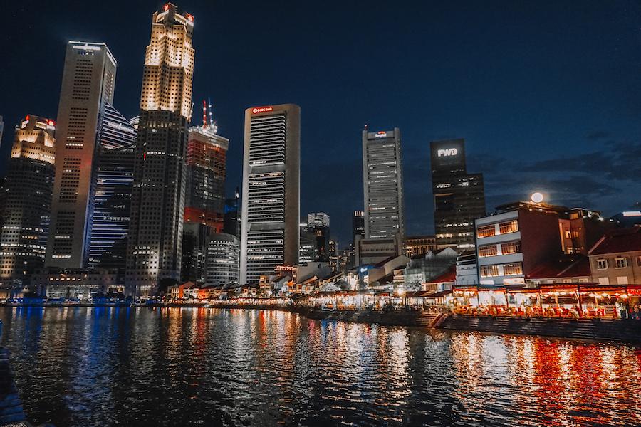 Singapore at night Circular street views
