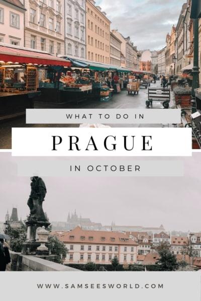 Prague in October Pinterest pin