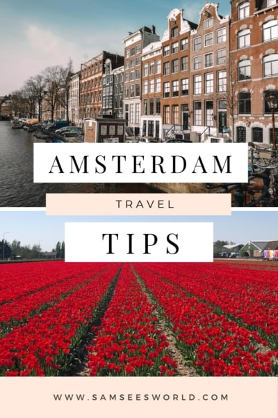 Amsterdam travel tip pins