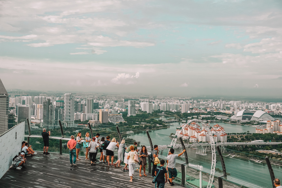 View from top of Marina Bay Sands