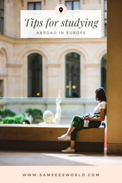 Studying Abroad in Europe pin