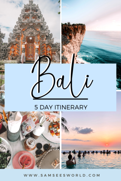 5 day Bali itinerary pin
