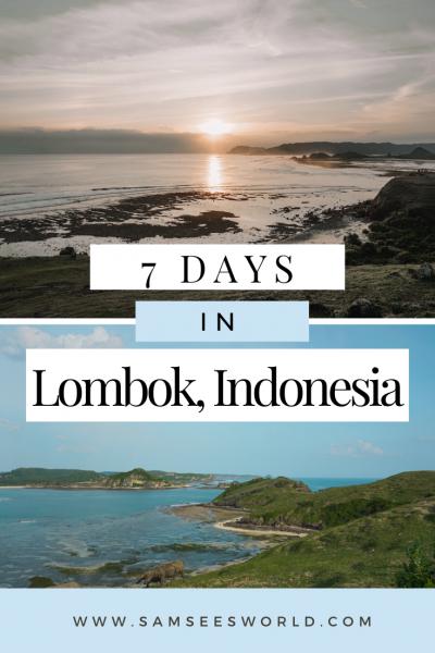 7 day Lombok itinerary