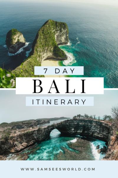 7-day Bali Itinerary pin