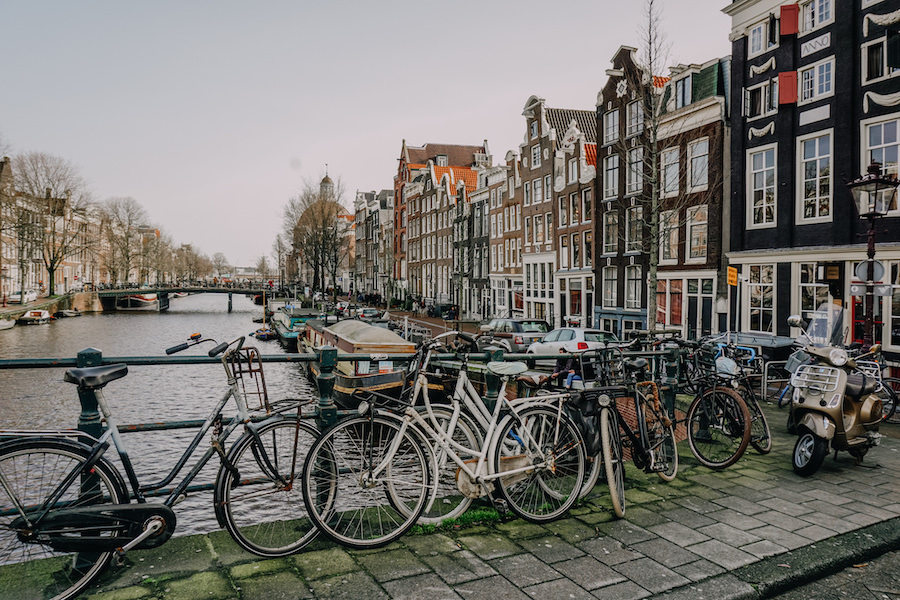 Amsterdam in February streets