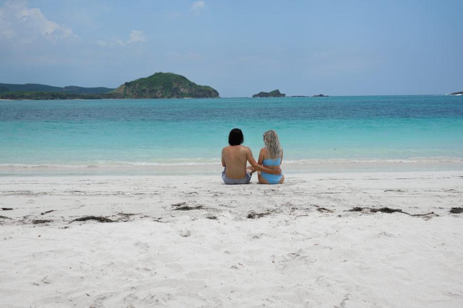 Couple on Tanjung Aan Beach