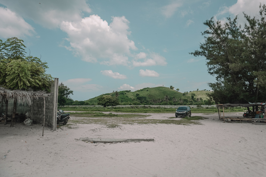 Parking lot Tanjung Aan Beach