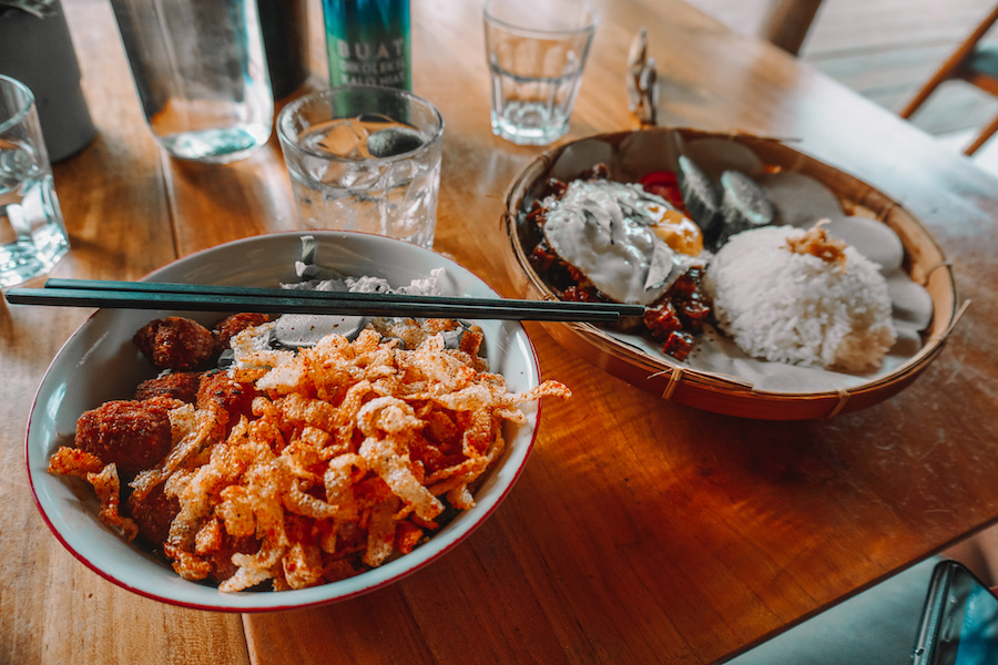 Indonesian food in Lombok