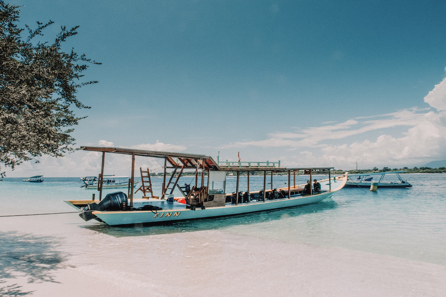 Boating in the Gili islands water