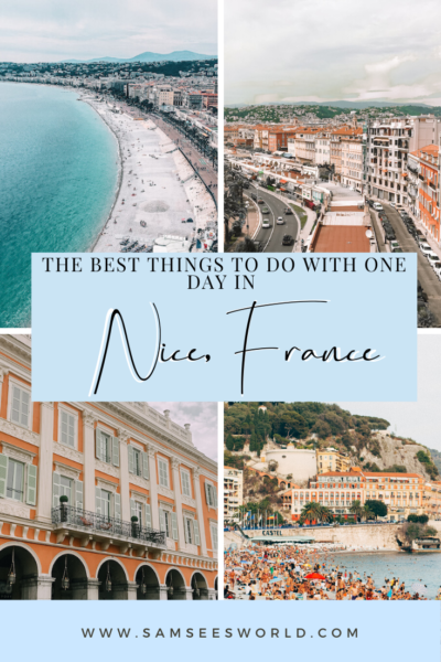 one day in Nice, France
